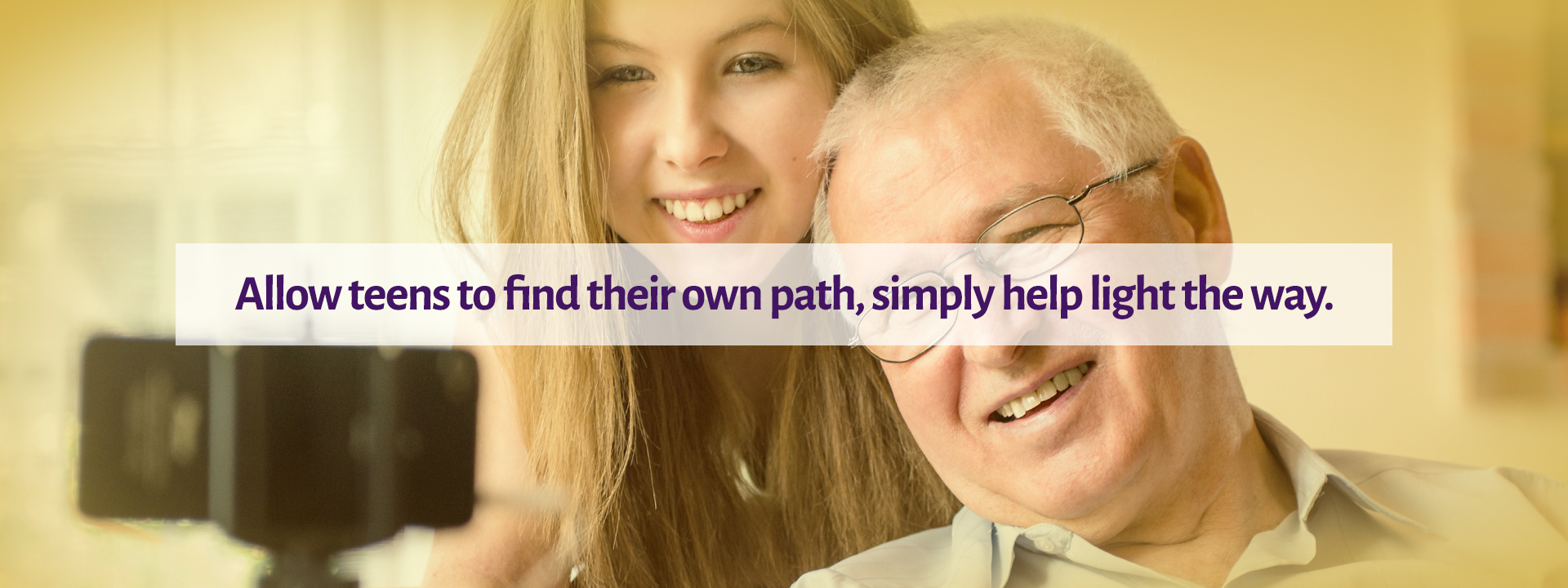 Allow teens to find their own path, simply help light the way.
